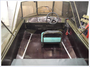 размер кокпита лодки обь 3