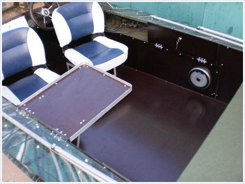 полы у алюминиевых лодок