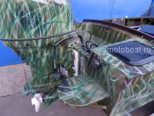 трафарет для покраски лодки